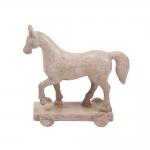 Estatueta Cavalo/Horse Branco Marchador em Resina