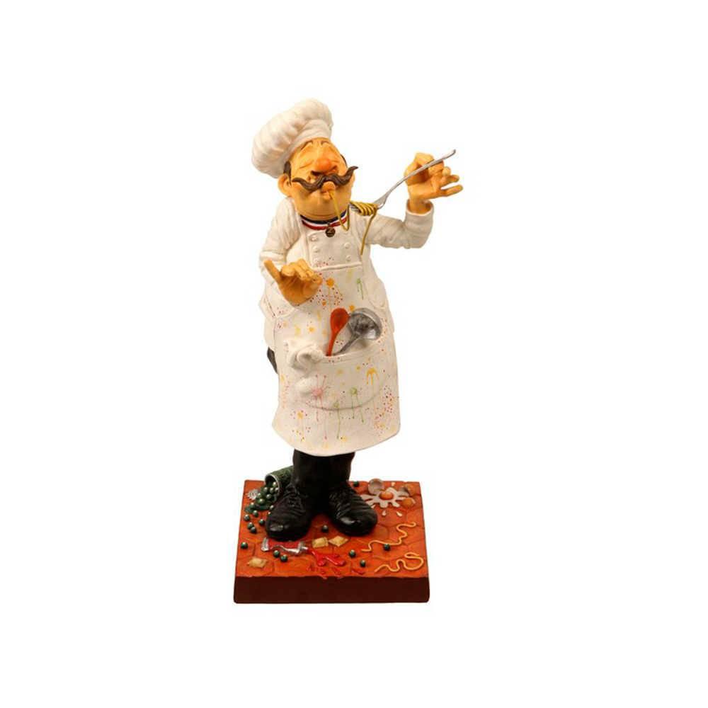 Estatueta O Cozinheiro em Resina de Guillermo Forchino - 40x19 cm