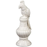 Estatueta Decorativa Ave White II em Cerâmica - 24x8 cm
