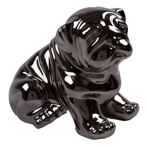 Estatueta Dog Metálico em Cerâmica - 22x20 cm