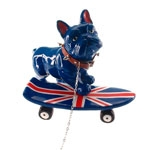 Estatueta Dog Skate UK em Cerâmica