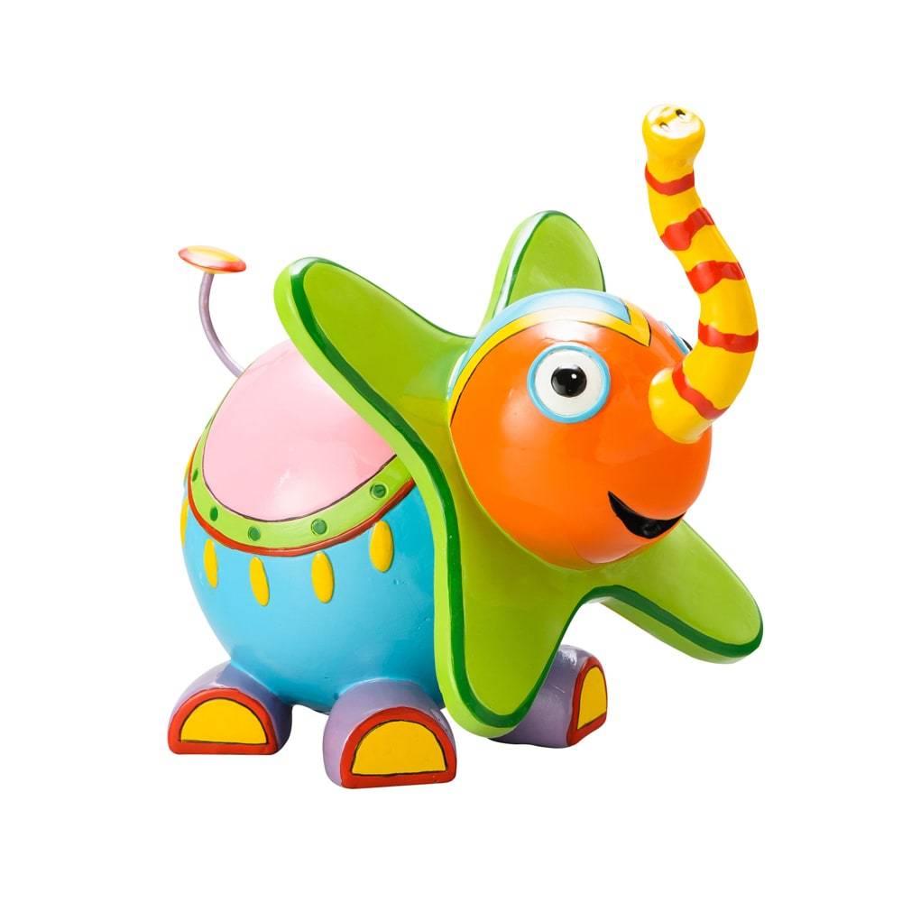 Estatueta Elefante Colorido em Poliresina - Lyor Design - 20 cm