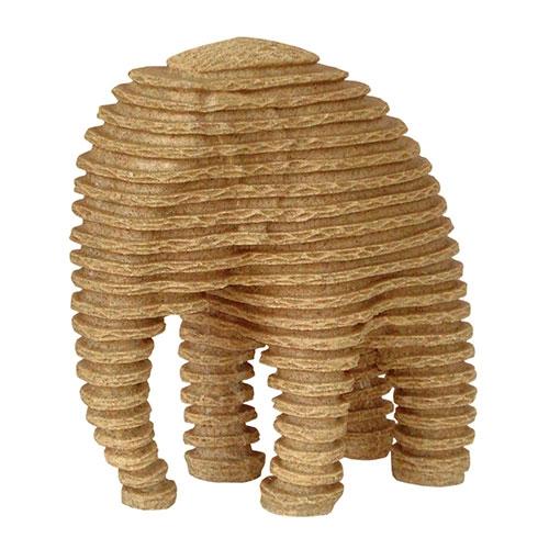 Estatueta Elefante Grande em Resina - 25x12 cm