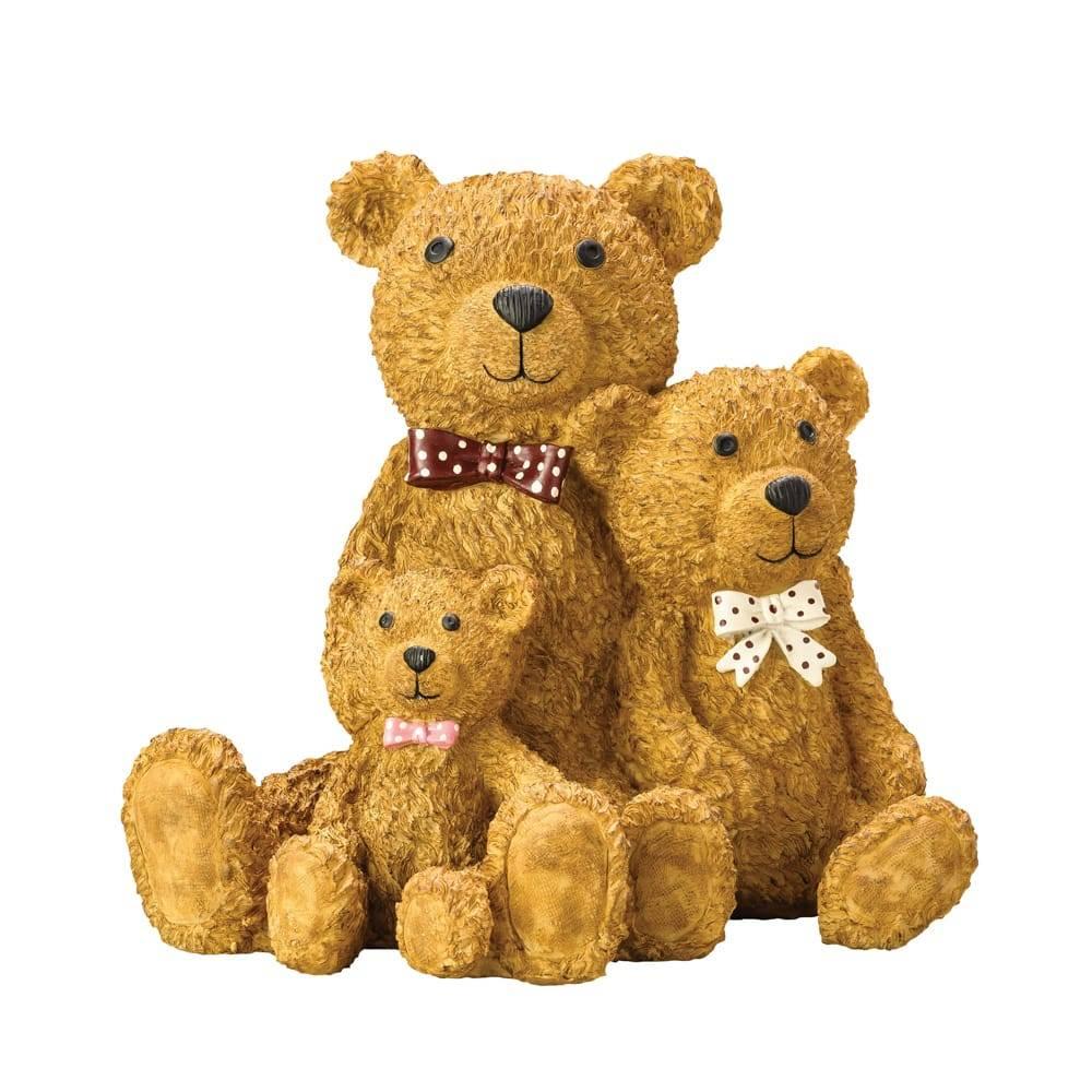 Estatueta Família de Ursos em Poliresina - Lyor Classic - 24,5 cm