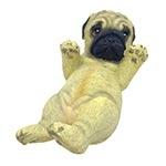 Estatueta Filhote de Pug Médio - 15x8 cm