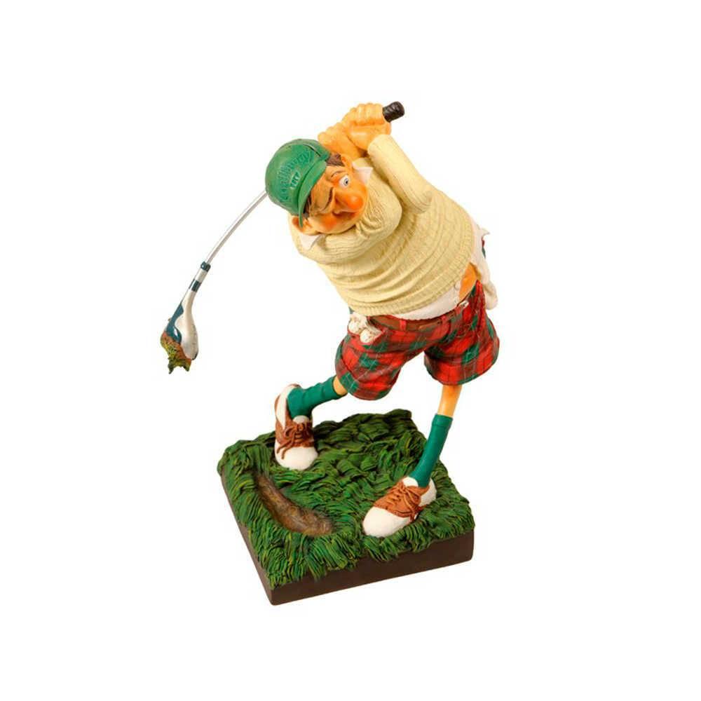 Estatueta O Golfista em Resina de Guillermo Forchino - 37x27 cm