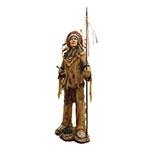 Estatueta Índio Cacique com Lança Oldway