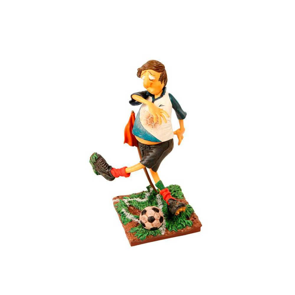 Estatueta O Jogador de Futebol em Resina de Guillermo Forchino - 37x22 cm