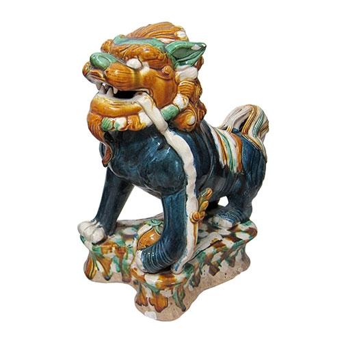 Estatueta Leão de Cerâmica Chengde - 47x28 cm