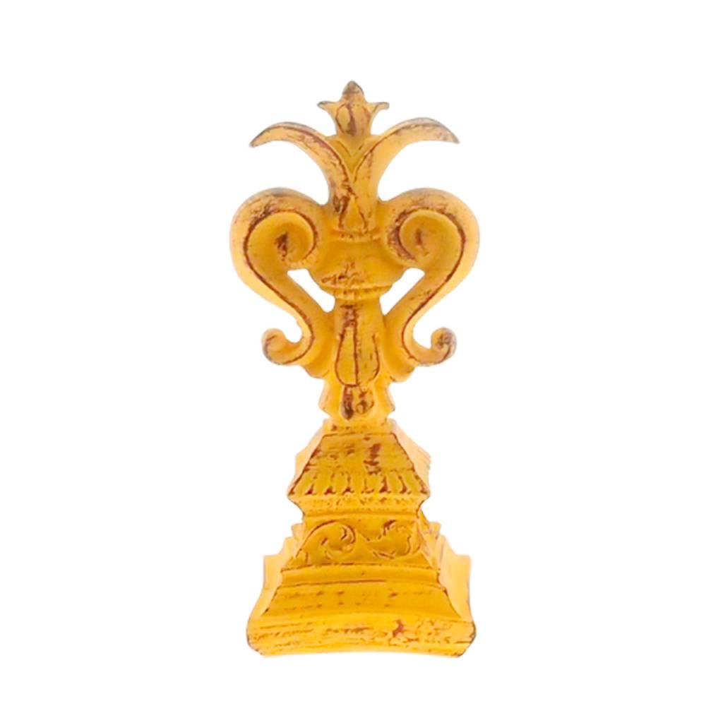 Estatueta Lírio Provençal Amarelo em Resina - 25x10 cm
