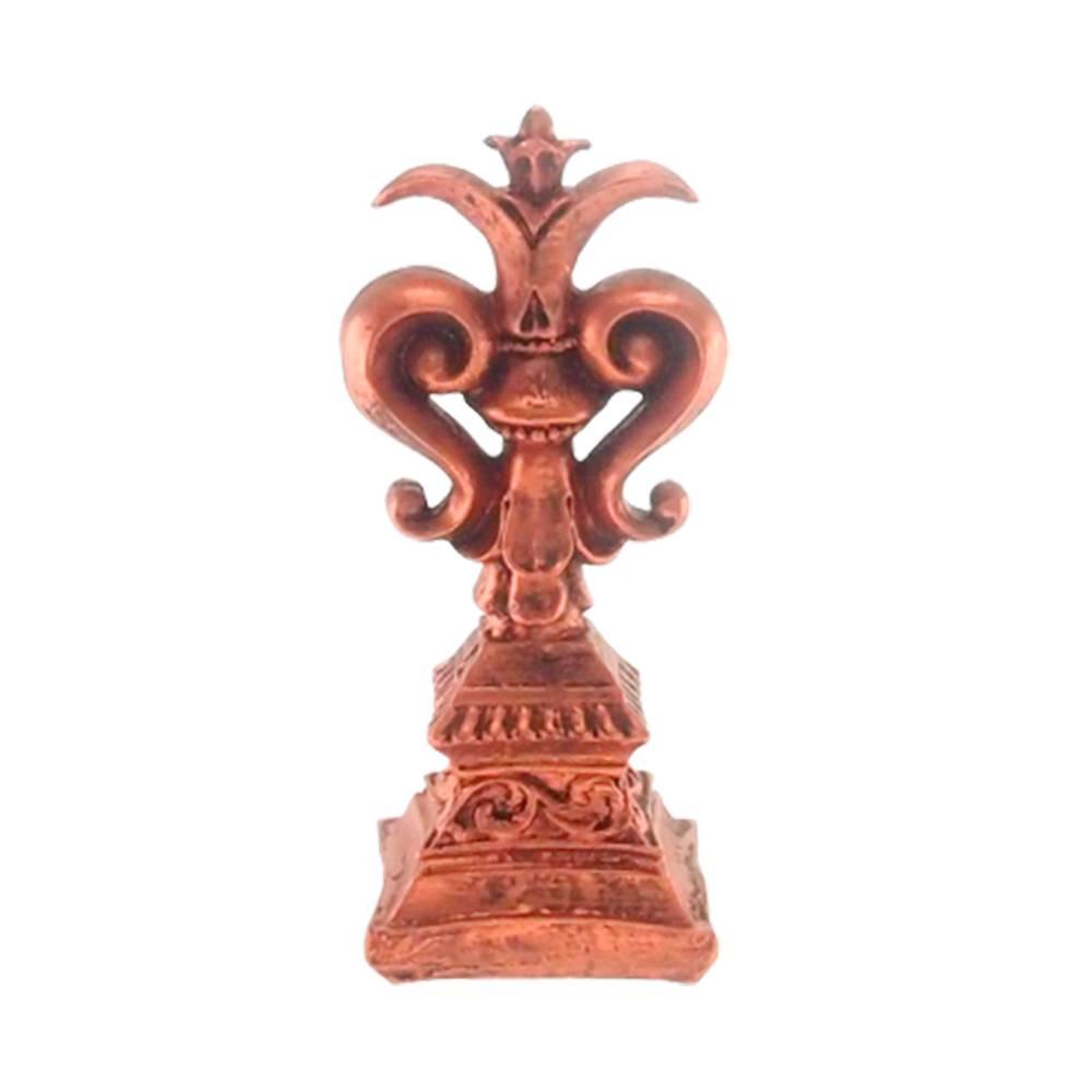 Estatueta Lírio Provençal Cobre em Resina - 25x10 cm