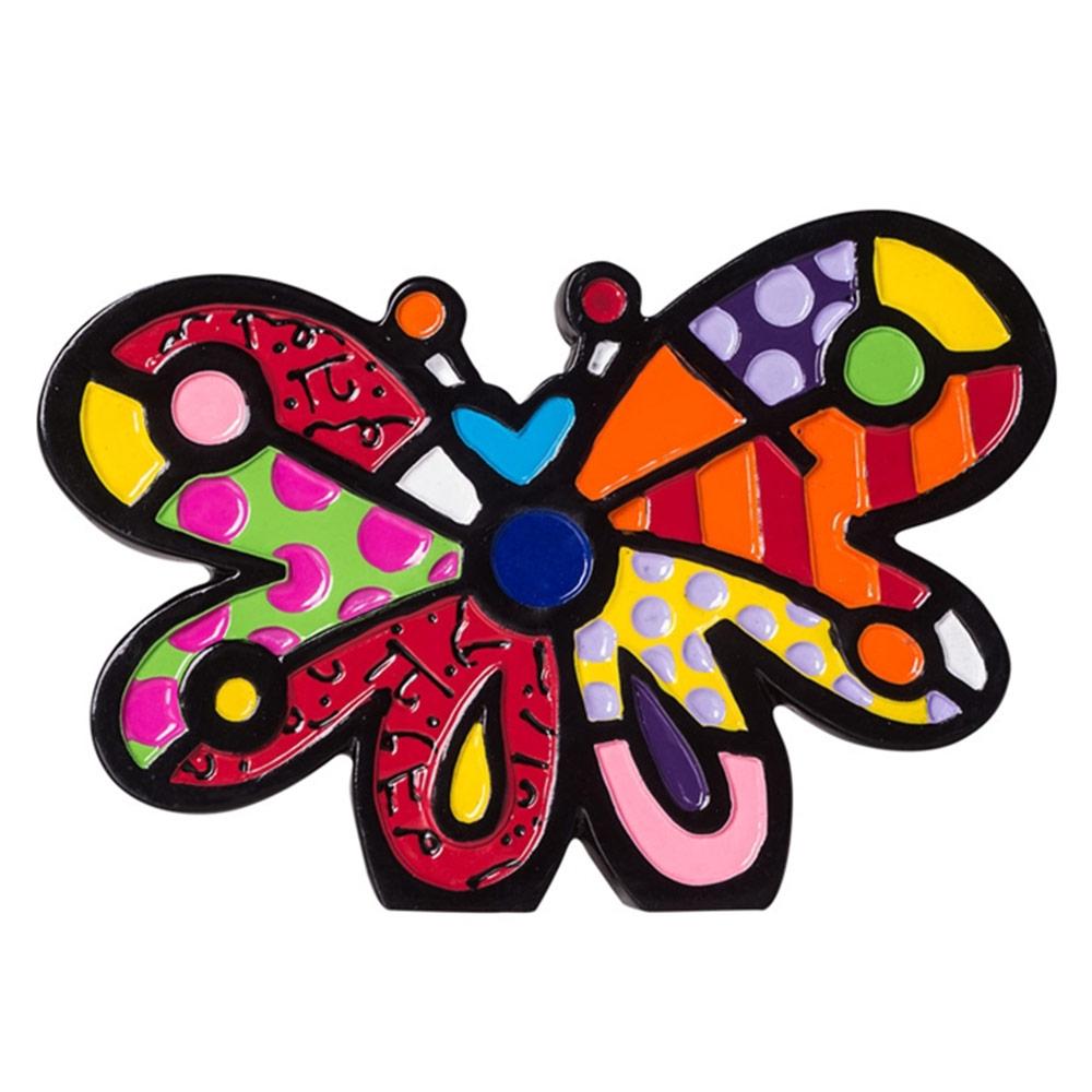 Estatueta Mini Figurine Butterfly - Romero Britto - 8x5 cm