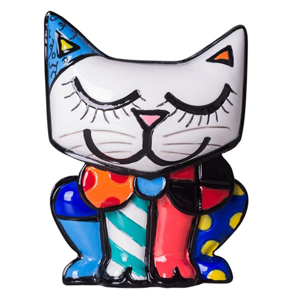 Estatueta Mini Figurine Cat - Romero Britto - em Resina - 8x5 cm