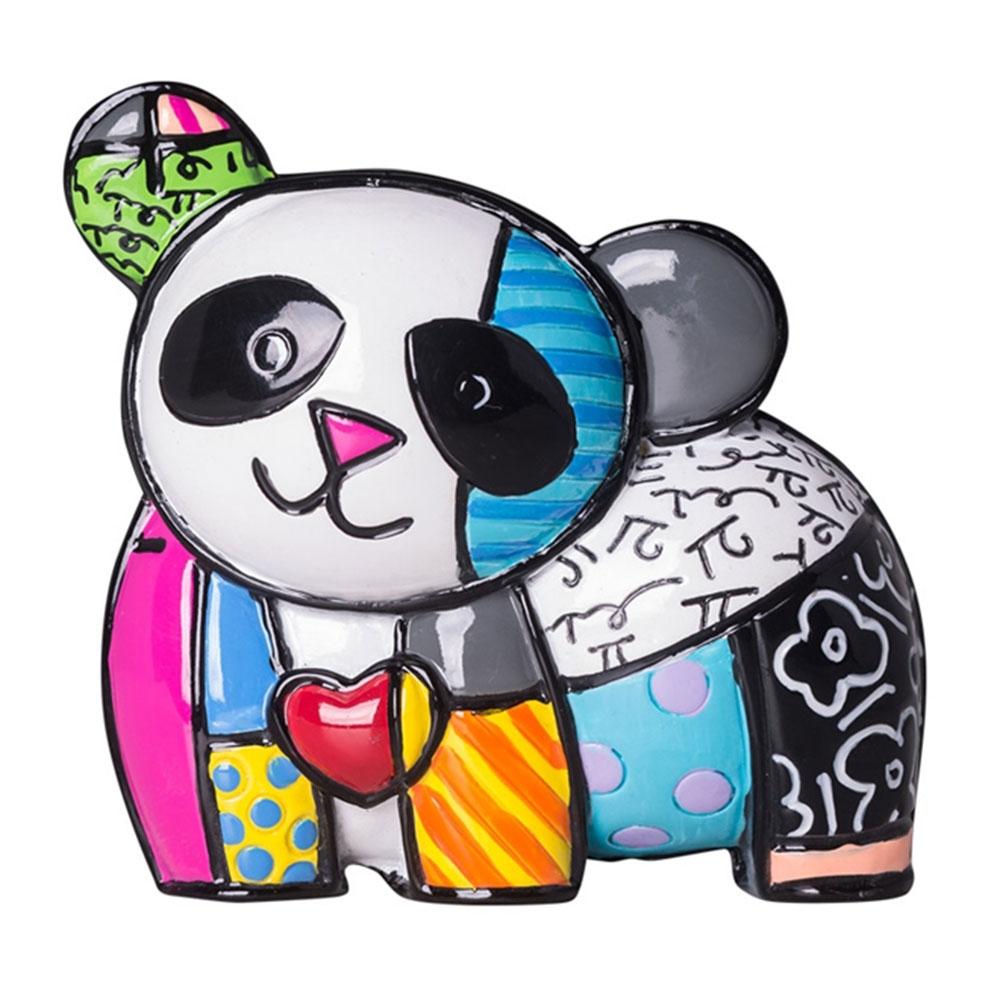 Estatueta Mini Figurine Panda - Romero Britto - em Resina - 7x6 cm