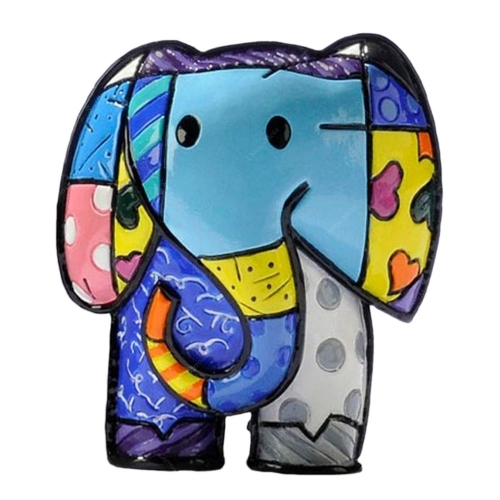 Estatueta Mini Lucky Elephant - Romero Britto - em Resina - 6x5 cm