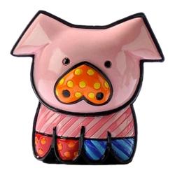 Estatueta Mini Pig - Romero Britto - em Resina