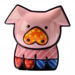 Estatueta Mini Pig - Romero Britto - em Resina - 6x5 cm