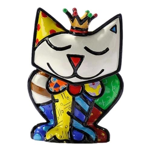 Estatueta Mini Princess Cat - Romero Britto - em Resina - 6x4 cm