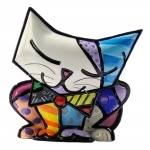 Estatueta Mini Sugar Cat - Romero Britto - em Resina - 6x5 cm