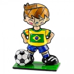 Estatueta Mini World Cup Brazil em Resina - 7x5 cm