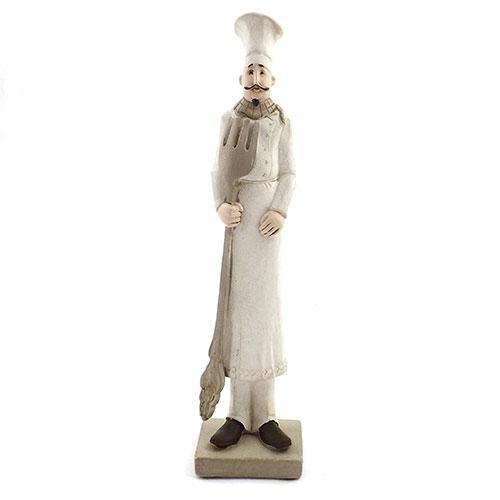 Estatueta / Miniatura de Cheff com Garfo - Em Resina - 6x26 cm