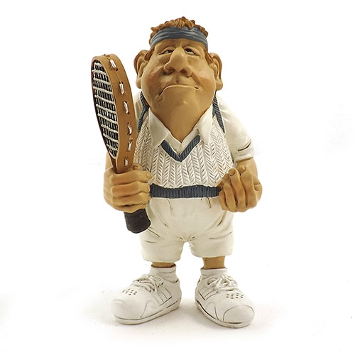 Estatueta / Miniatura de Tenista Pequeno - Em Resina - 8x14 cm
