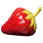 Estatueta Morango Vermelho Pequeno em Cerâmica - 16x12 cm
