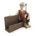 Estatueta Porta Cartão Menino sentado com Taco de Golf