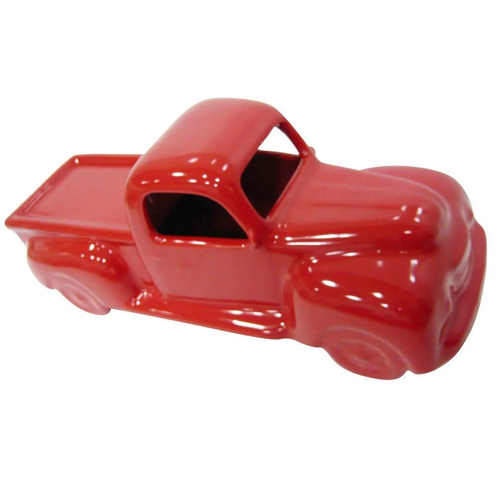 Estatueta Truck Retro Vermelho em Cerâmica - Urban - 33x13 cm