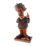 Estatueta/Caricatura Albert Einstein em Resina