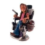 Estatueta/Caricatura Cabeleireiro em Resina