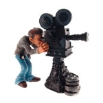 Estatueta/Caricatura Cinegrafista em Resina