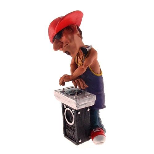 Estatueta/Caricatura DJ em Resina - 15x7 cm