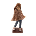 Estatueta/Caricatura Menina de Poncho em Resina