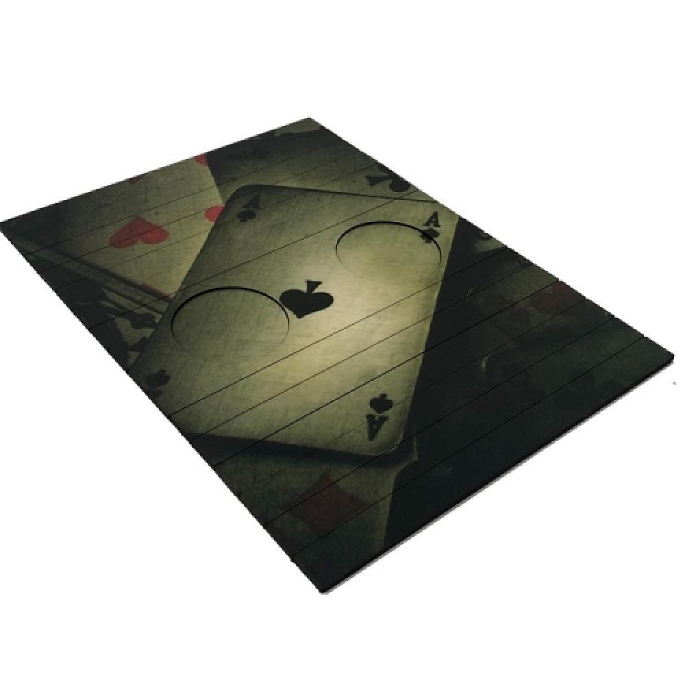 Esteira de sofá cartas de baralho