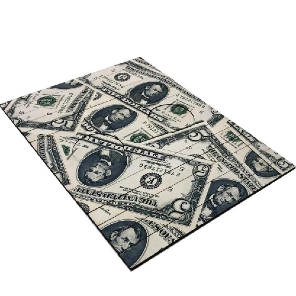 Esteira de sofá notas de dólar