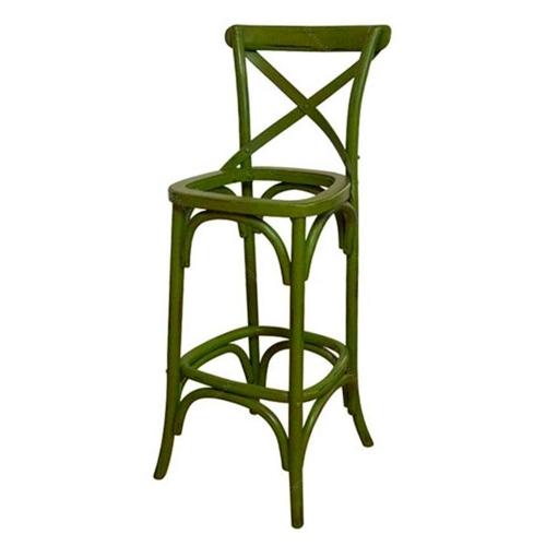 Estrutura Banco Bar Verde Retrô em Metal - 110x40 cm