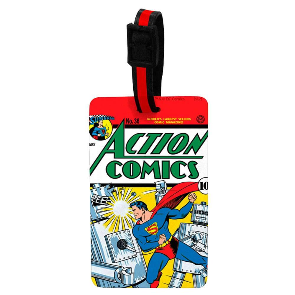Etiqueta para Mala DC Comics Action Comics Superman em Vinil - Urban - 13x10 cm