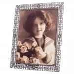 Porta-Retrato Glam Prata Envelhecido em Metal e Pedrarias - 30x25 cm