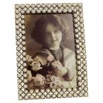 Porta-Retrato Madelaine Dourado em Metal - 12x10 cm