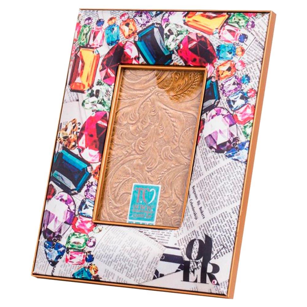 Porta-Retrato Over Jornal Multicolorido - 23x18 cm