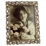 Porta-Retrato Josephine Dourado em Metal - 12x10 cm