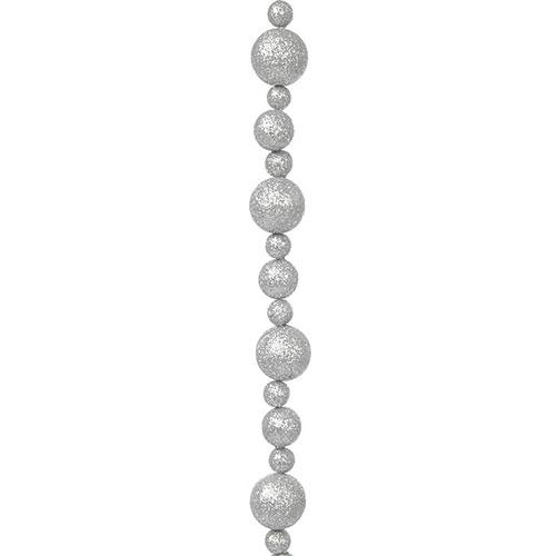 Fio Bola Decorativo Prata - 100x5 cm
