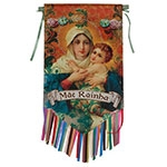 Flag Decorativo Mãe Rainha em Cetim
