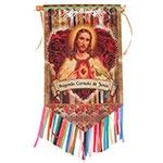 Flag Decorativo Sagrado Coração de Jesus em Cetim