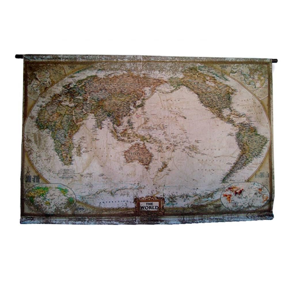 Flag Mapa Mundi em Sarja - 162x103 cm