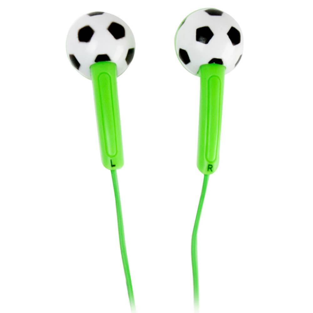 Fone de Ouvido Football Verde - Urban - 15,5 cm
