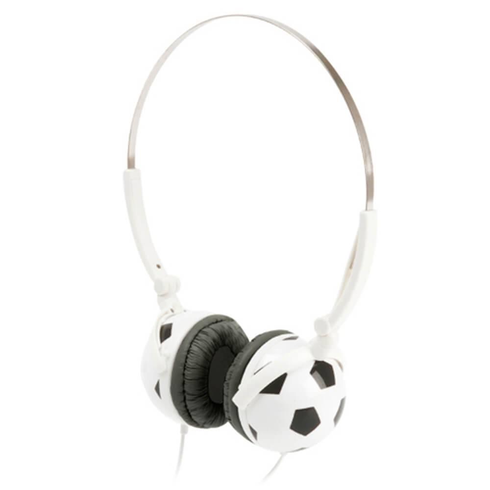 Fone de Ouvido Headphone Football Branco - Urban - 15,5 cm