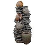 Fonte 4 Jarros nas Pedras Greenway - 220V - em Resina