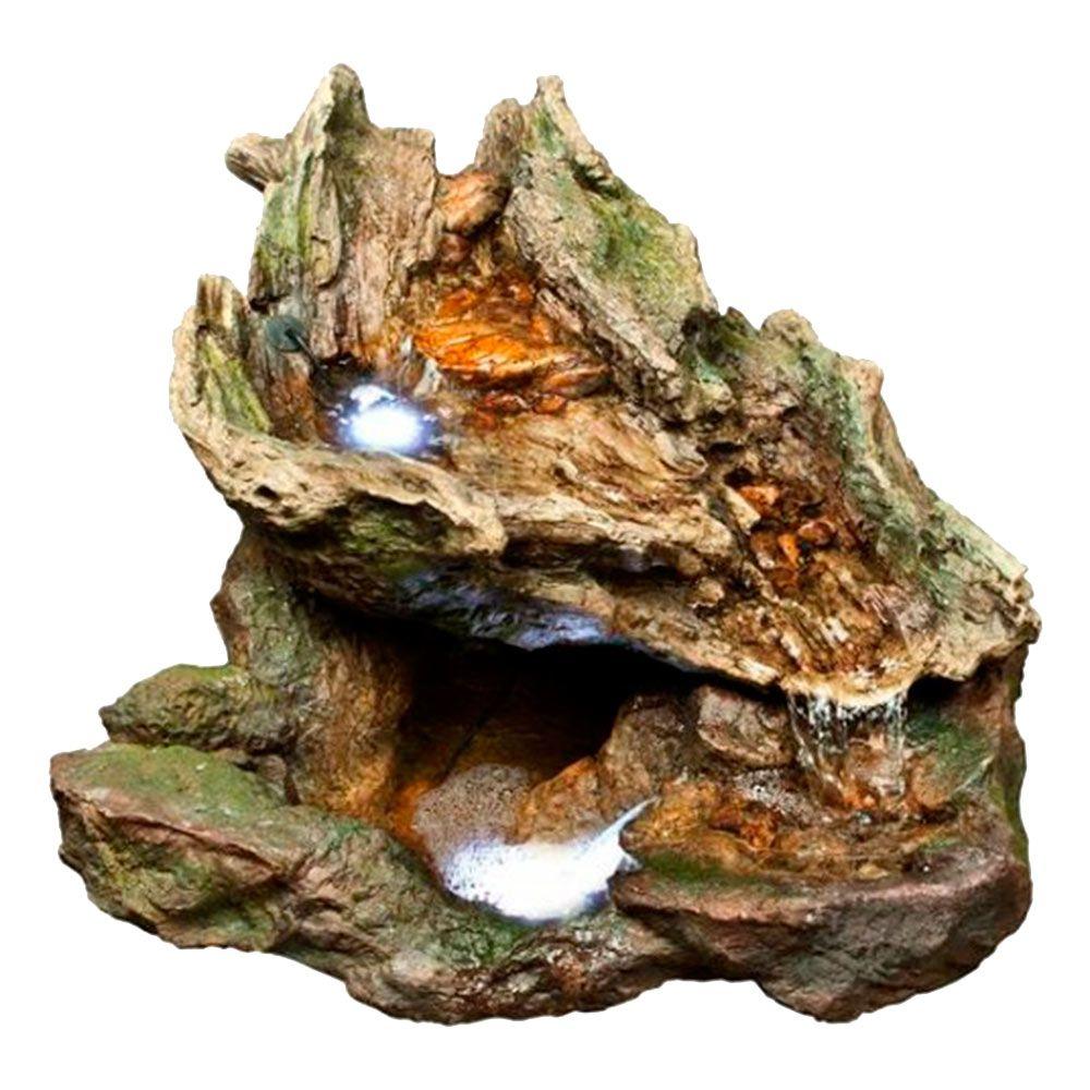 Fonte Cascata de Cedro - 110V - Grande em Resina - 59x55 cm